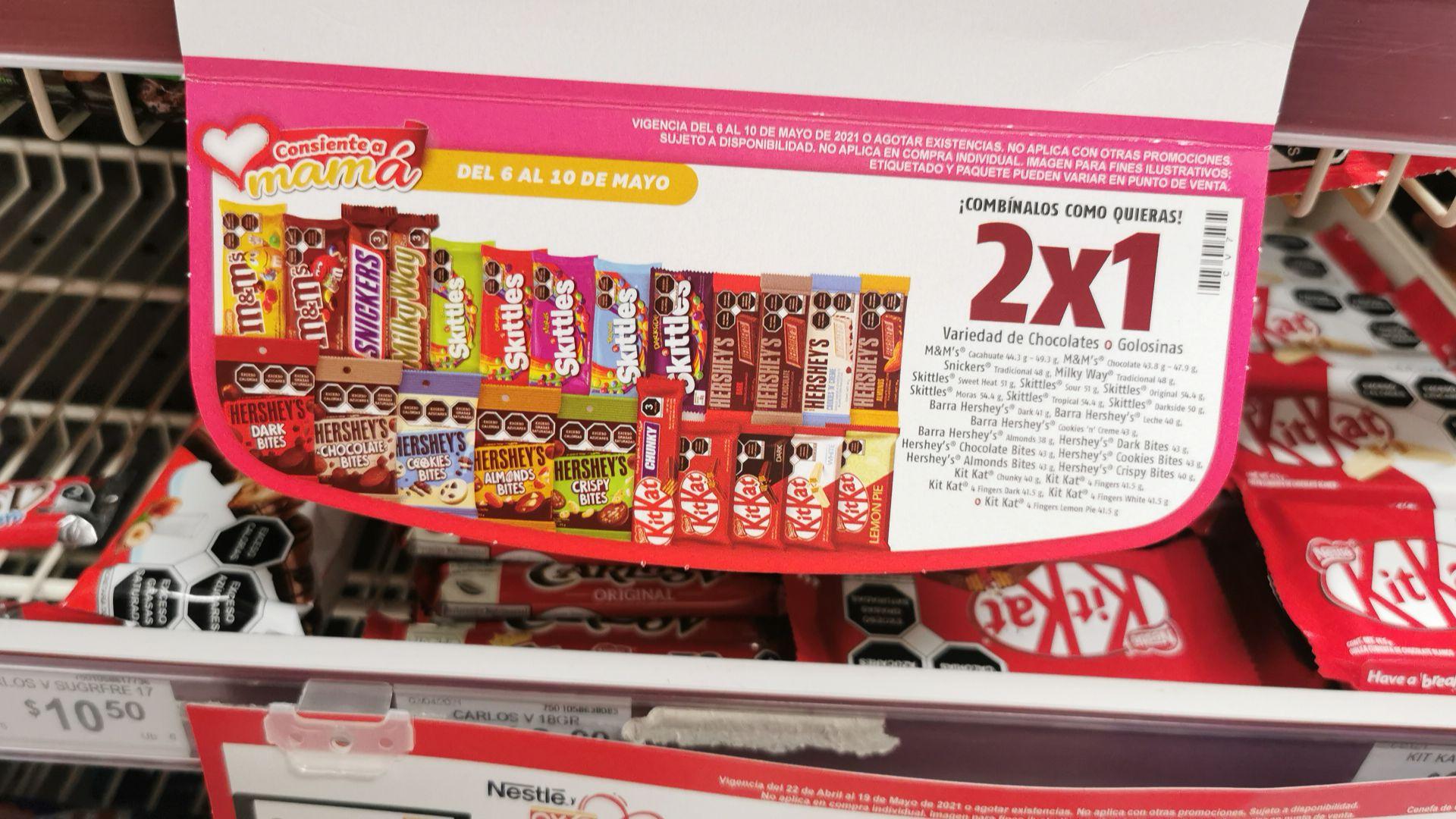 Oxxo: Chocolates 2x1