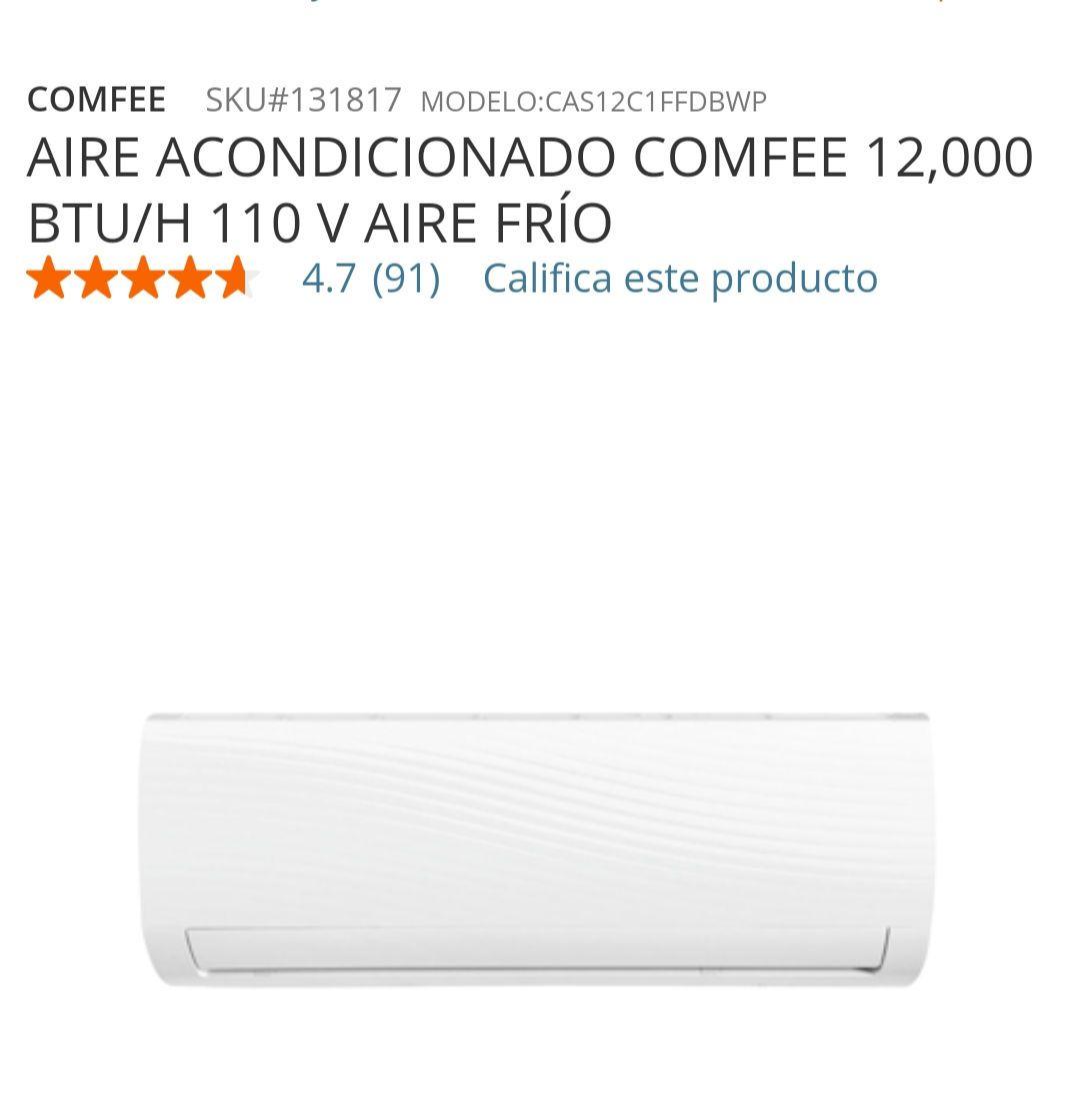 Home Depot: MINISPLIT COMFEE - SOLO FRIO 110V