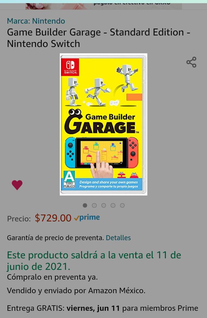 Amazon: Game Builder Garage - Standard Edition - Nintendo Switch (preventa)