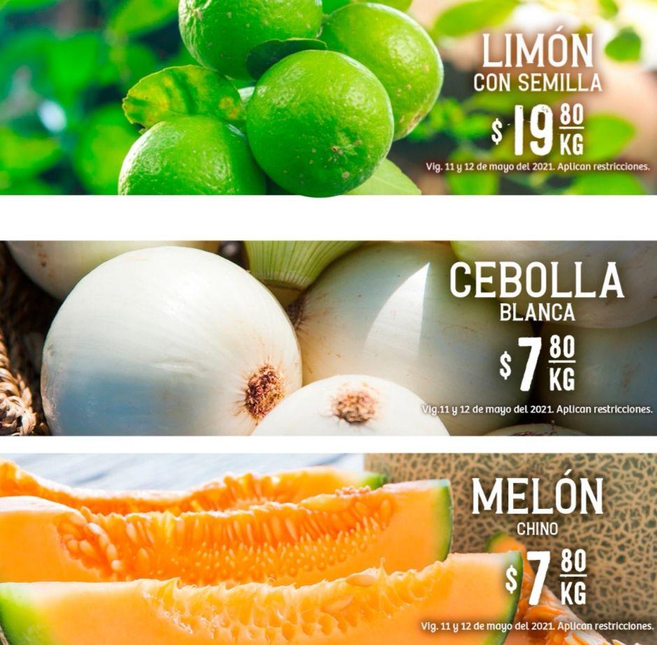 Soriana Híper y Súper: Martes y Miércoles del Campo 11 y 12 Mayo: Cebolla ó Melón $7.80 kg... Limón $19.80 kg.
