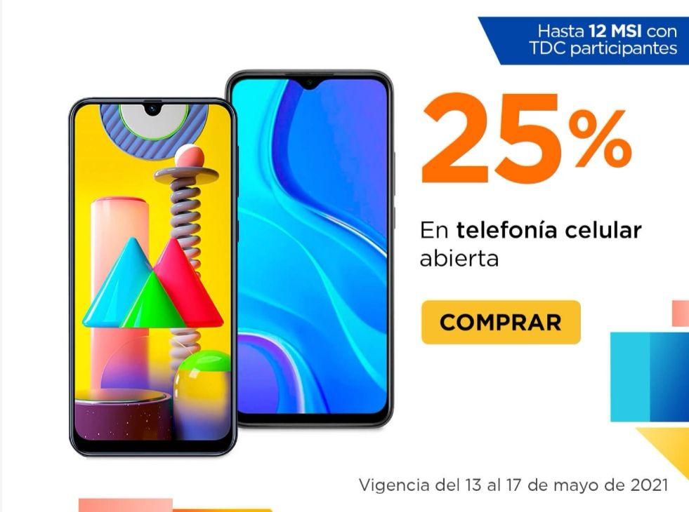 Chedraui: 25% de descuento en telefonía celular abierta