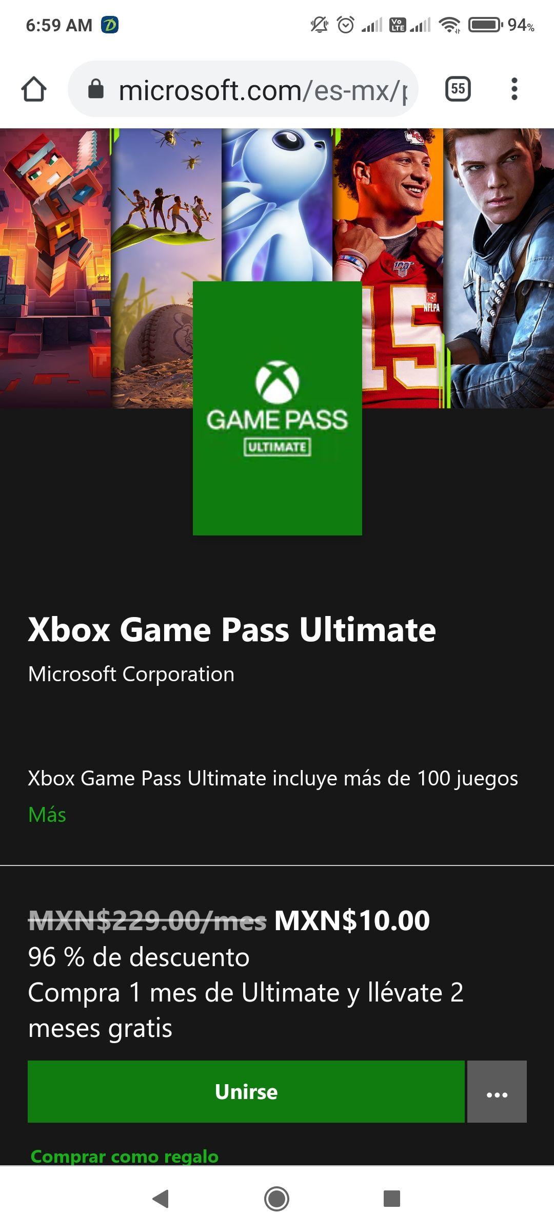 Xbox : 3 meses de Game Pass Ultimate por sólo $10