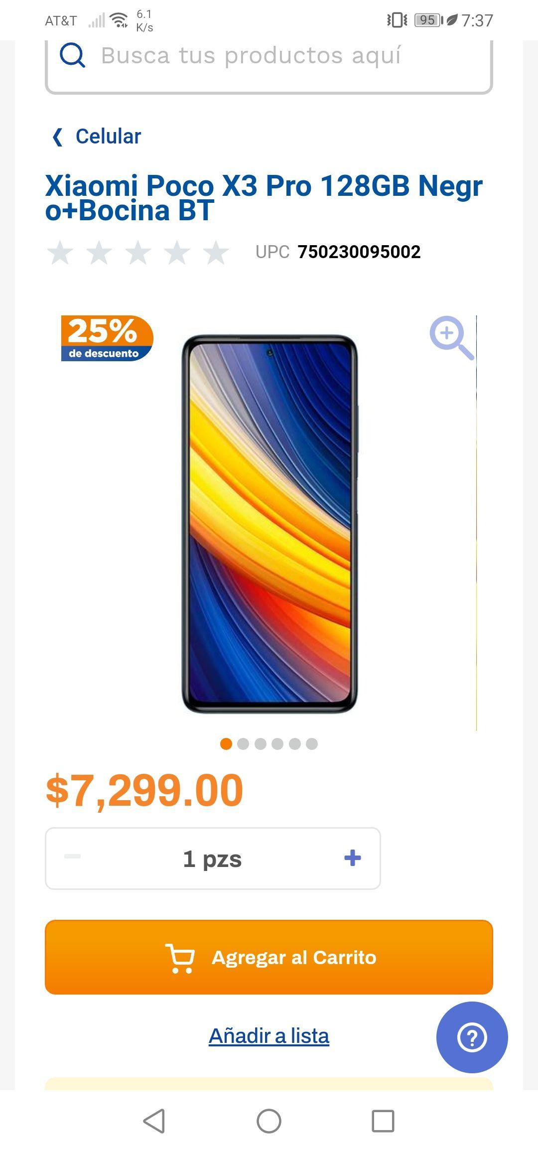 Chedraui: Xiaomi Poco x3 Pro 128 GB más bocina de regalo