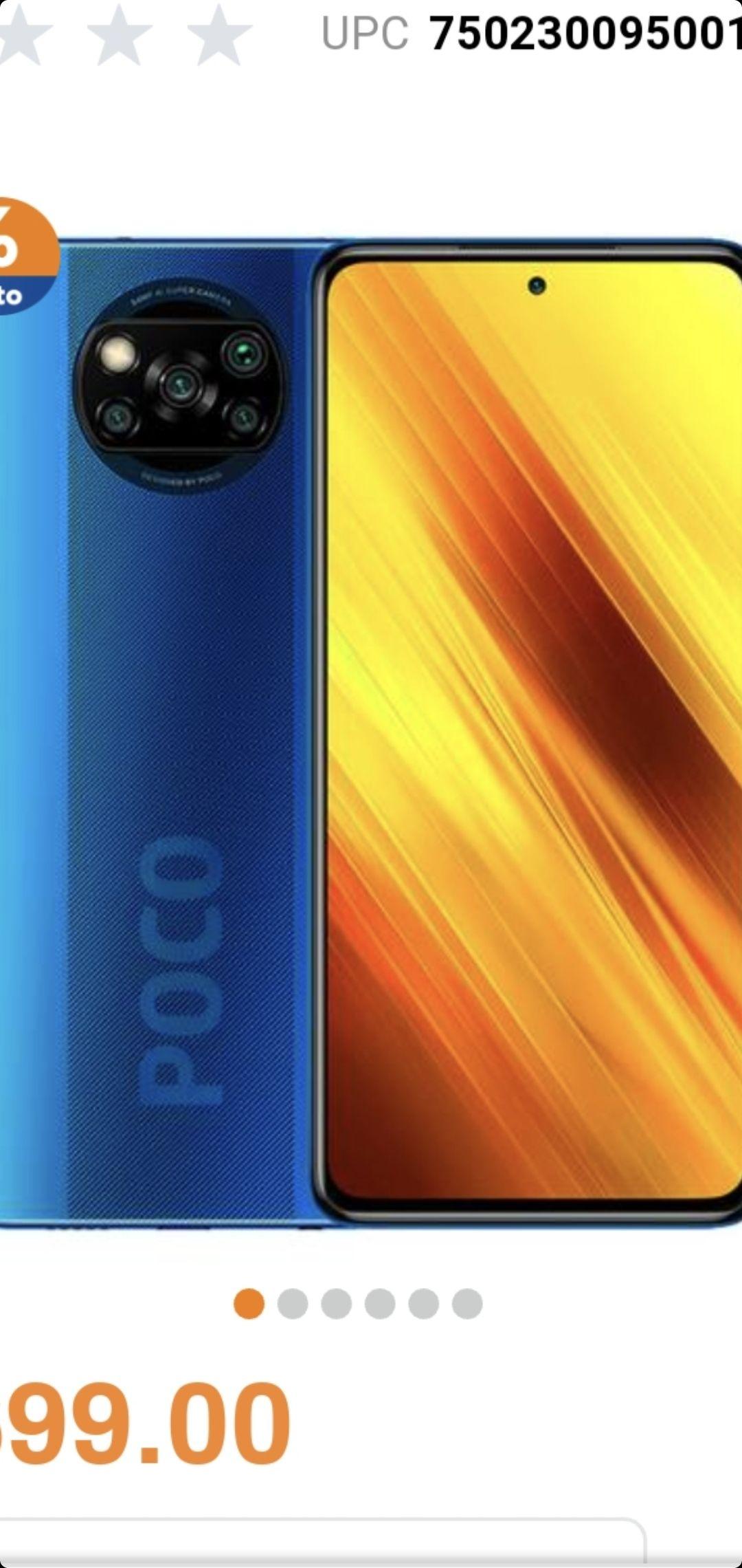 Chedraui: Xiaomi Poco x3 128GB Azul + Repetidor Wifi (agregando al carrito) con TDC HSBC MSI