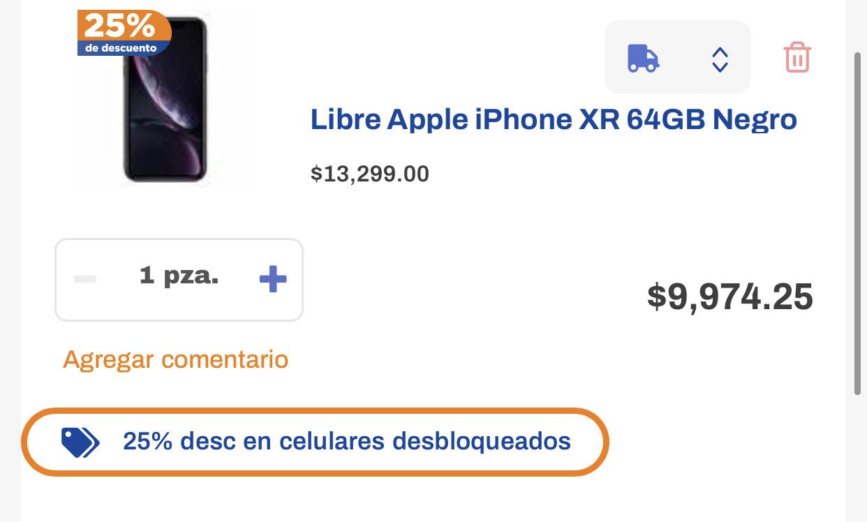 Chedraui: iPHONE XR 64GB NUEVO