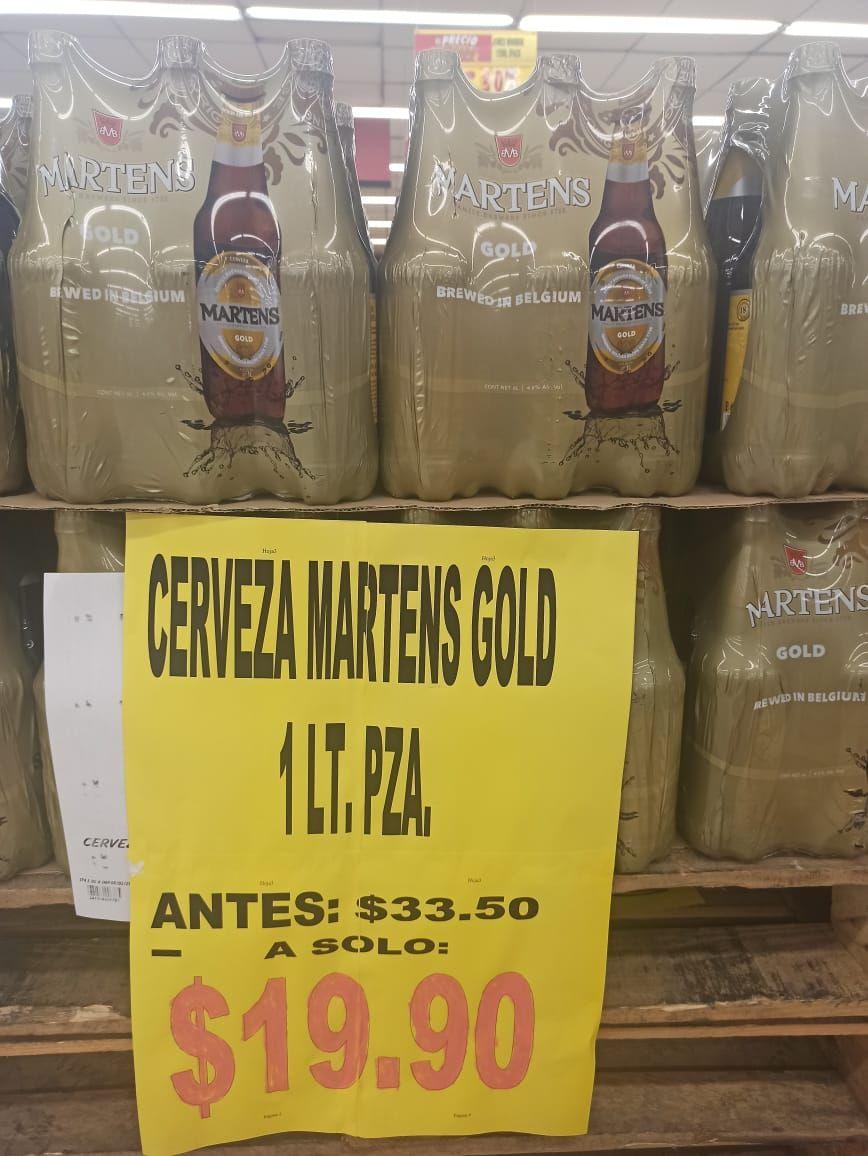 Soriana Cerveza 1 litro Martens Gold