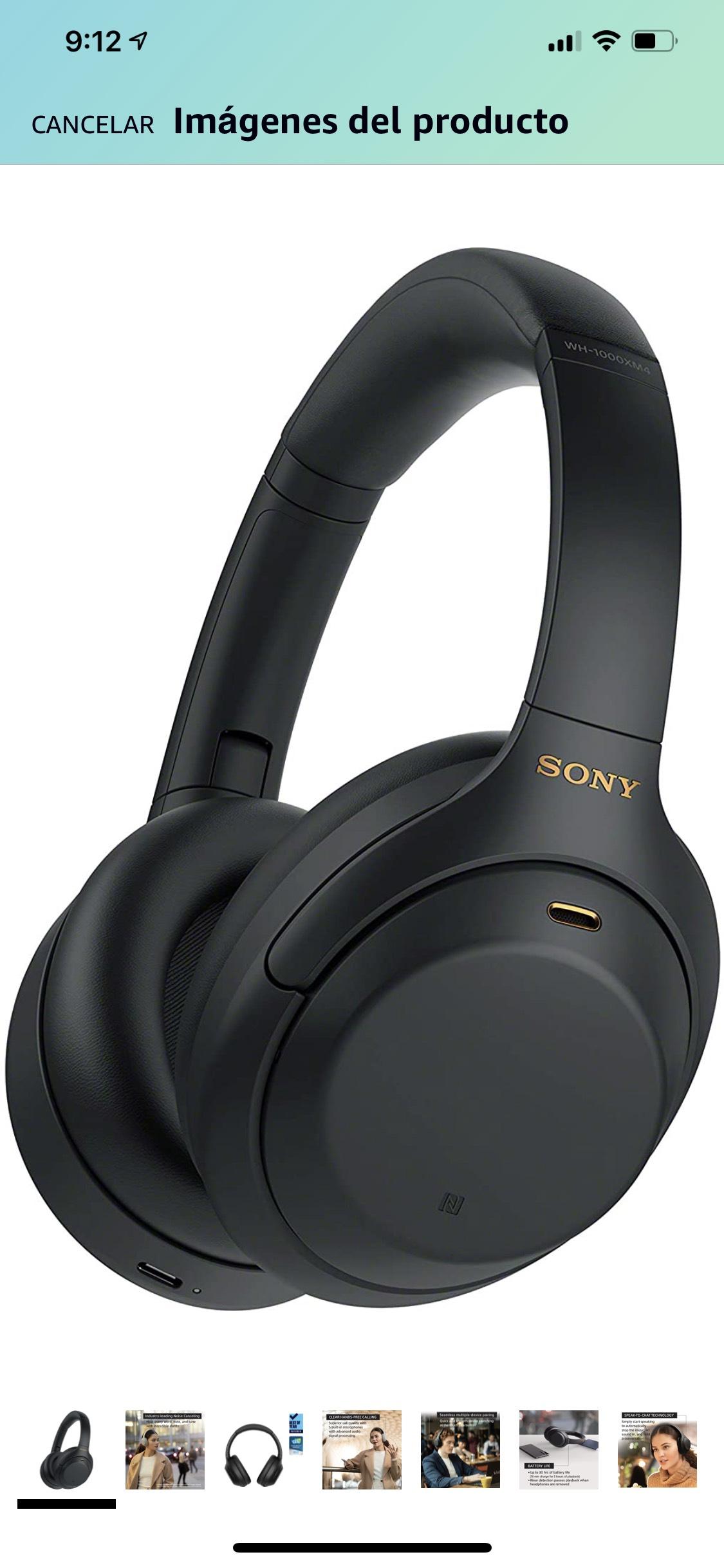 Amazon: Sony WH1000XM4/B Audífonos inalámbricos con Noise Cancelling. Con Cupón ALEGRIAMAZON