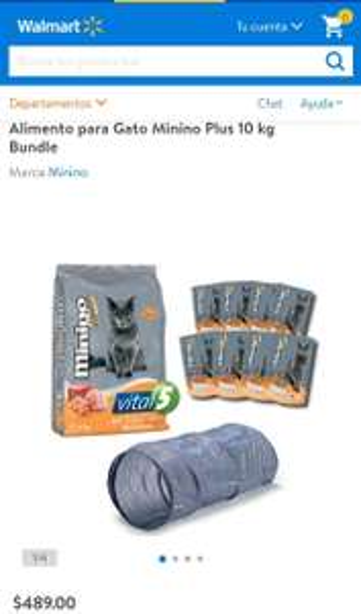 Walmart: Alimento para Gato Minino Plus 10 kg Bundle
