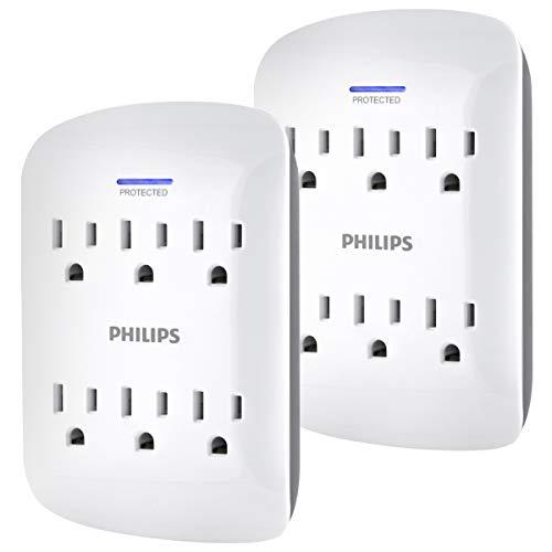 Amazon: PHILIPS Multicontacto 6 tomas (paquete de 2 x $321)