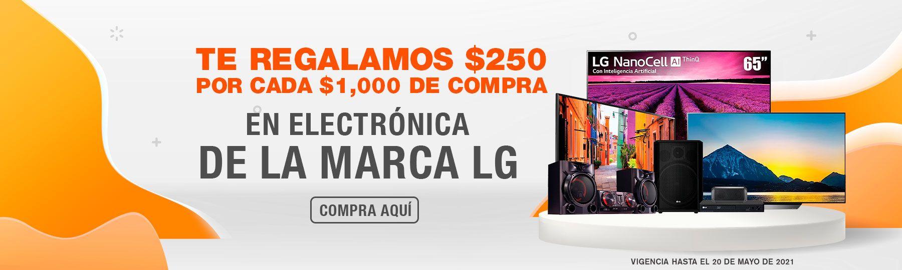 La Comer: $250 de descuento por cada $1,000 de compra en electrónica LG