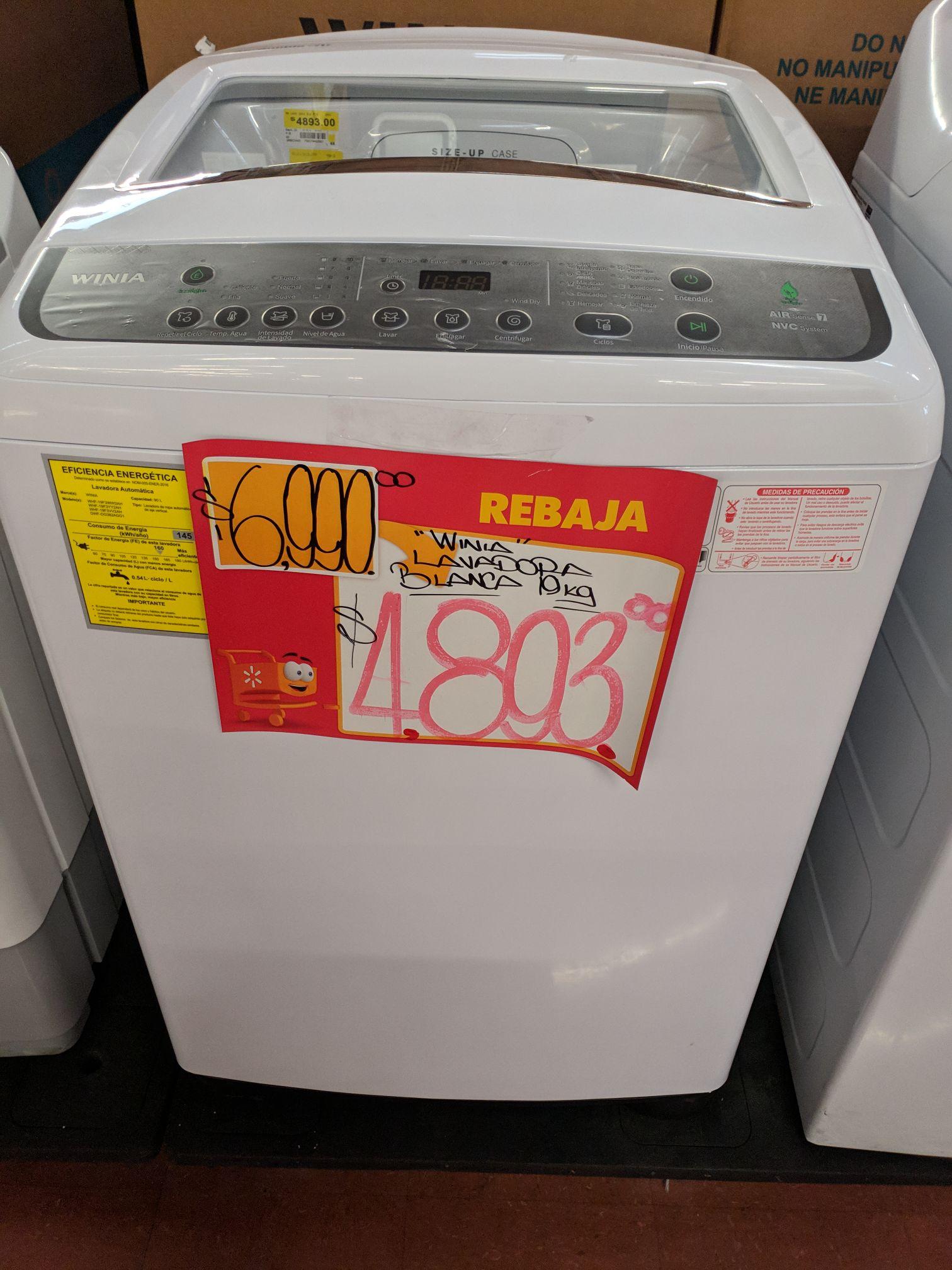 Walmart: Lavadora Winia (antes Daewoo) 19kG
