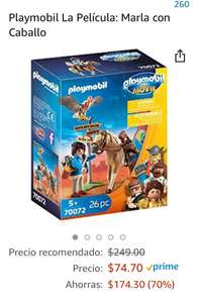 Amazon: Playmobil Marla con Caballo