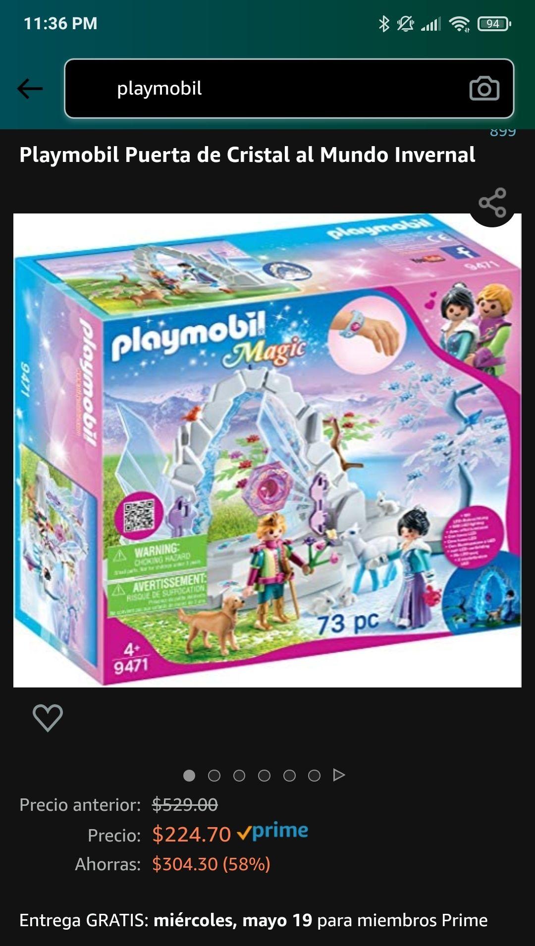 Amazon: Playmobil: puerta de cristal al mundo invernal