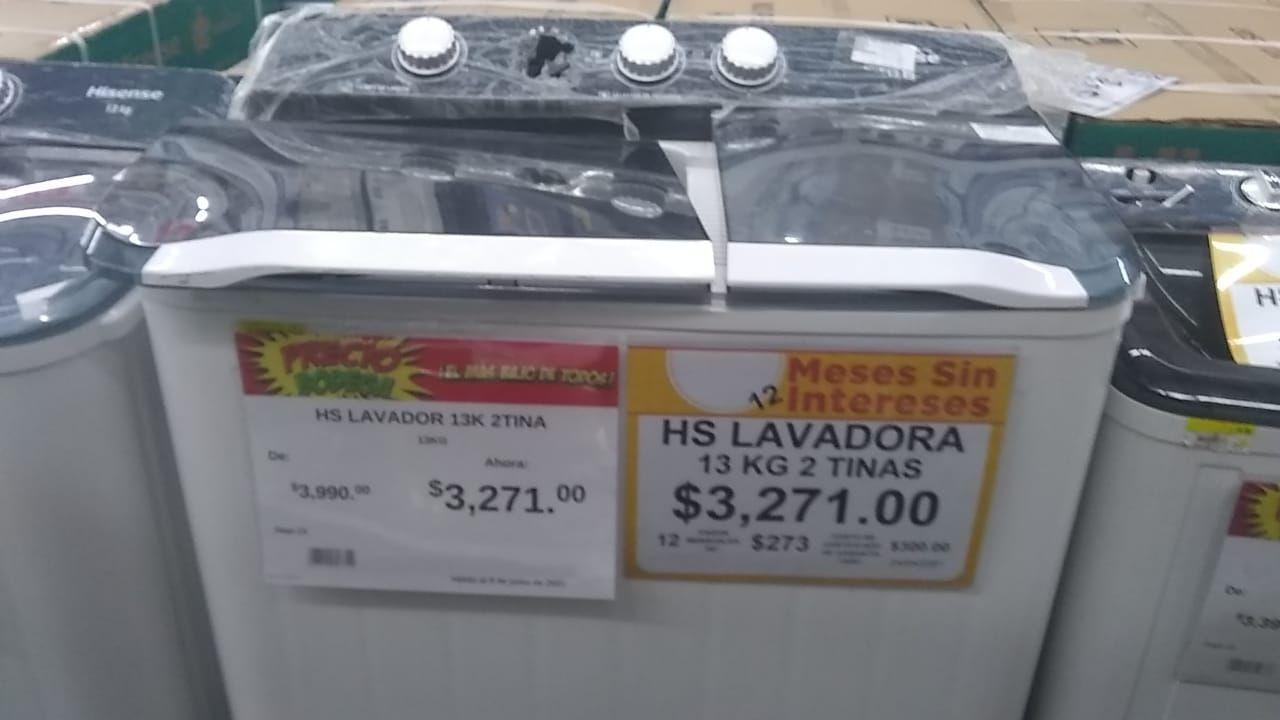 Bodega Aurrera León: Lavadora Hisense semiautomática