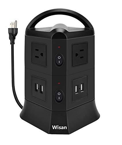 AMAZON: POWER STRIP TORRE MULTICONTACTOS (6) USB (4) PROTECCION DE SOBRE CARGA