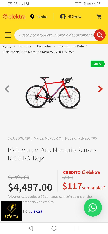Elektra Bicicleta Renzzo R700 14V Rodada 700