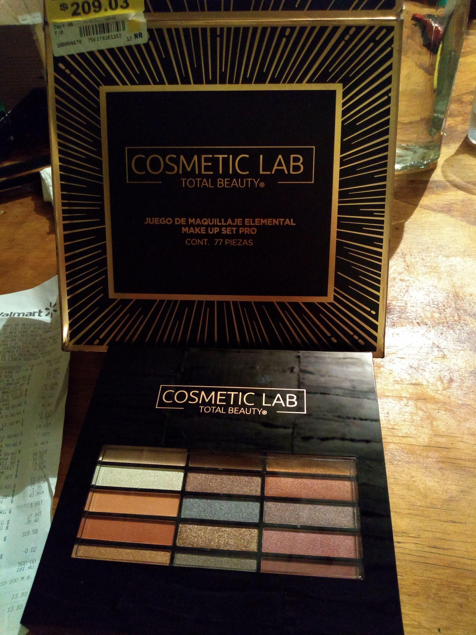 Walmart: juego de maquillaje cometic lab 77 piezas