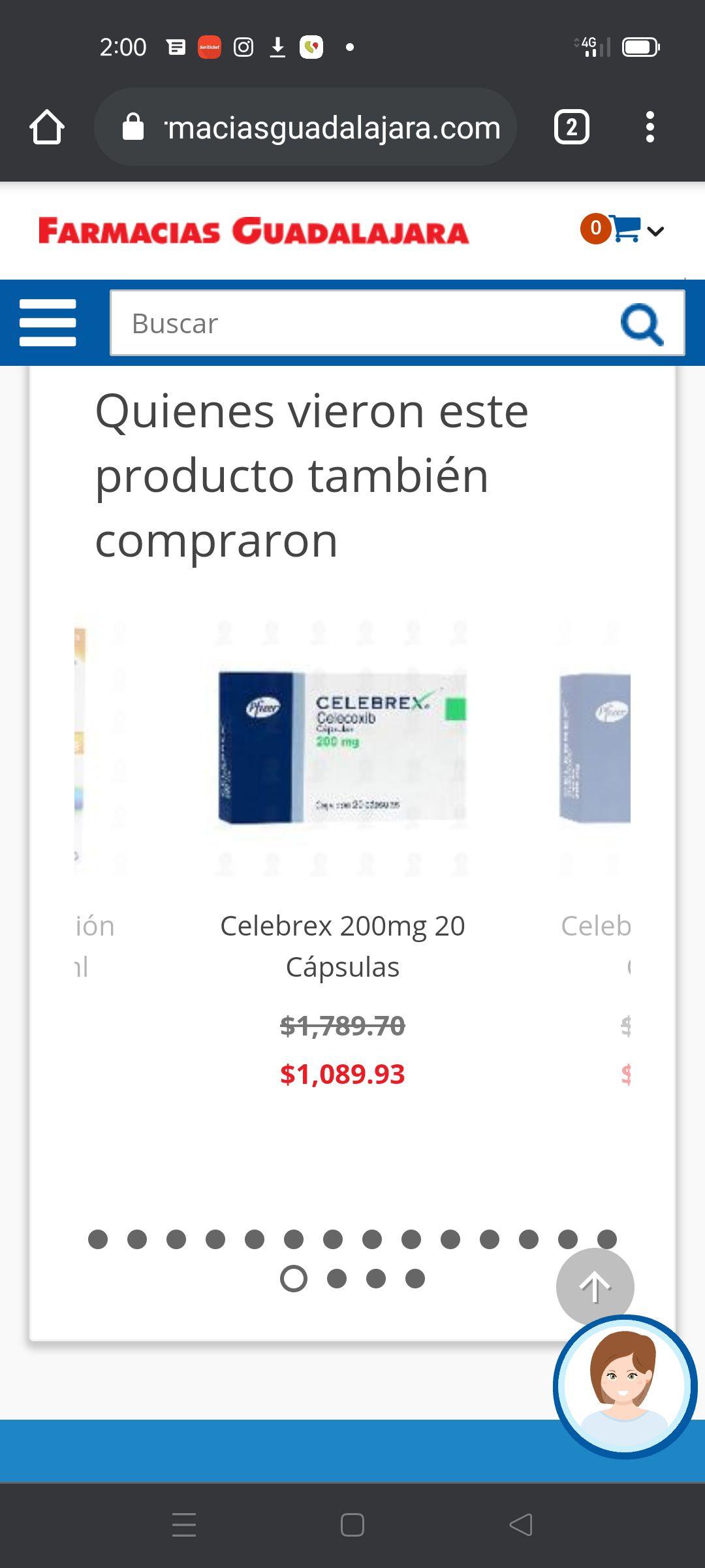 Farmacias Guadalajara: Celebrex Pfizer
