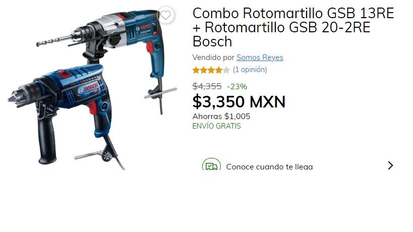Claro shop: Combo Rotomartillo GSB 13RE + Rotomartillo GSB 20-2RE Bosch