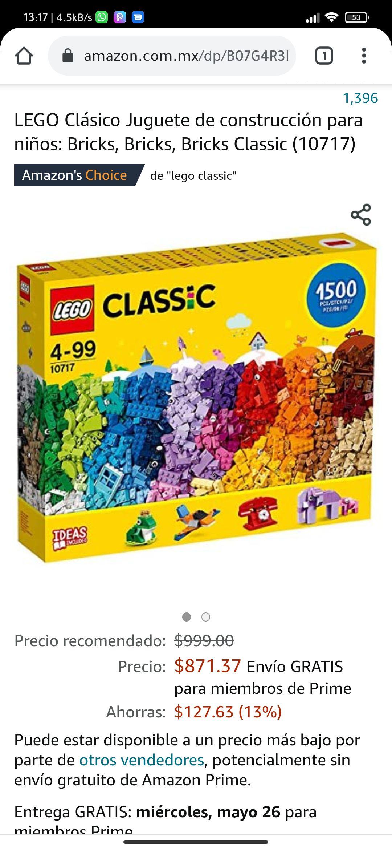 Amazon: Lego classic 1500 piezas