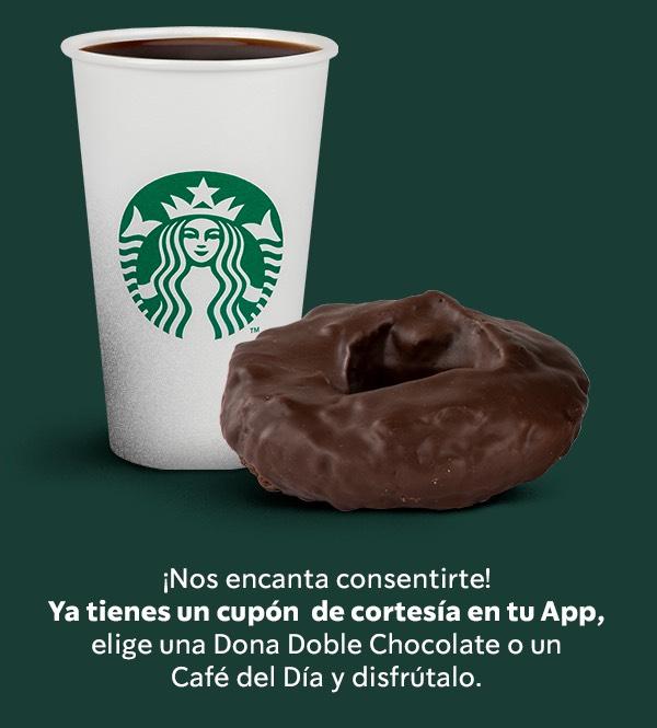 Starbucks Rewards: Dona doble de chocolate o café del día gratis