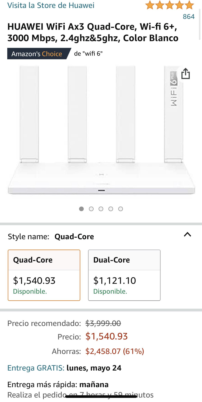 Amazon: Huawei Wifi Ax3 Quad-core