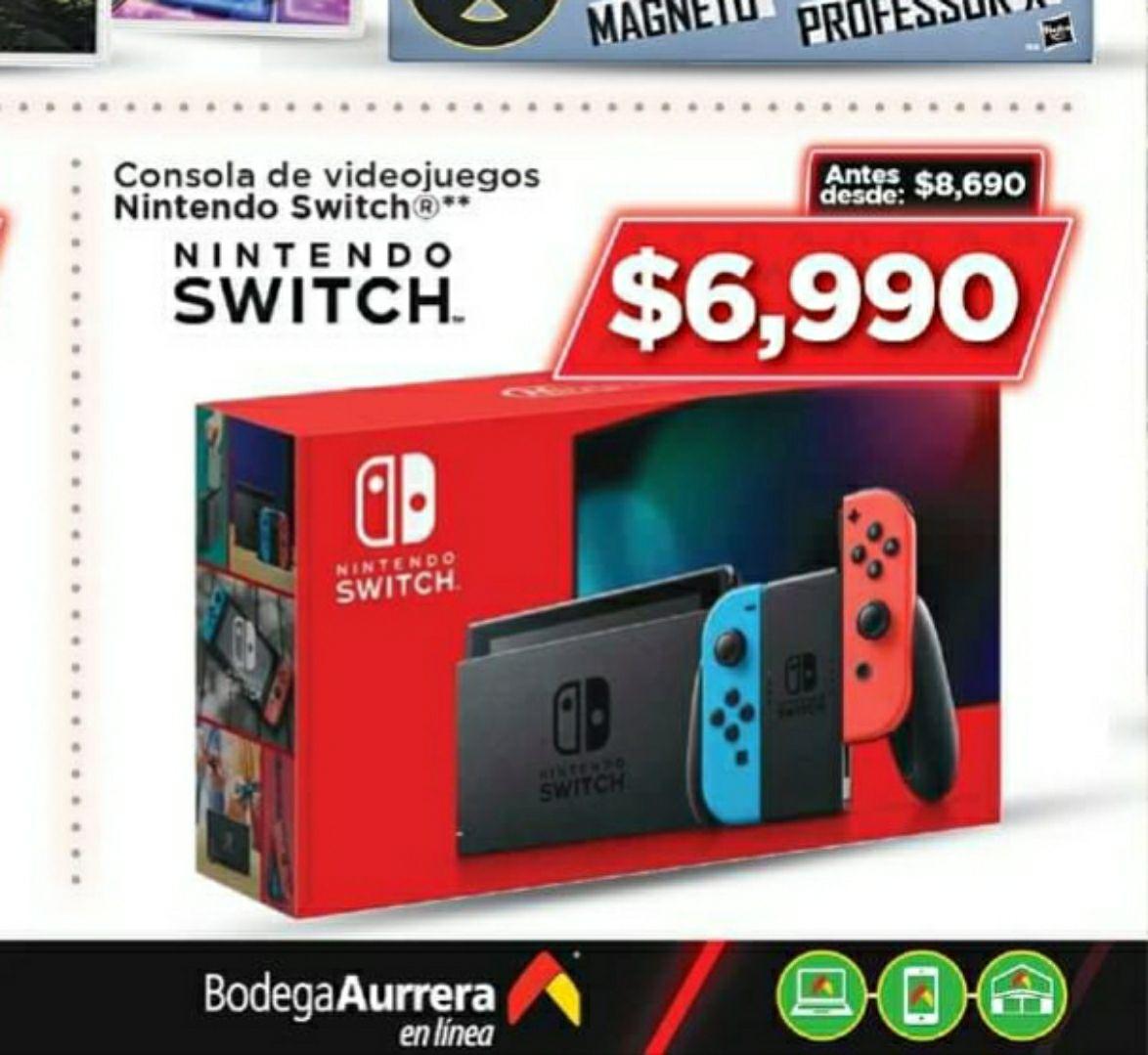 Nintendo switch en bodega aurrera por los hot days