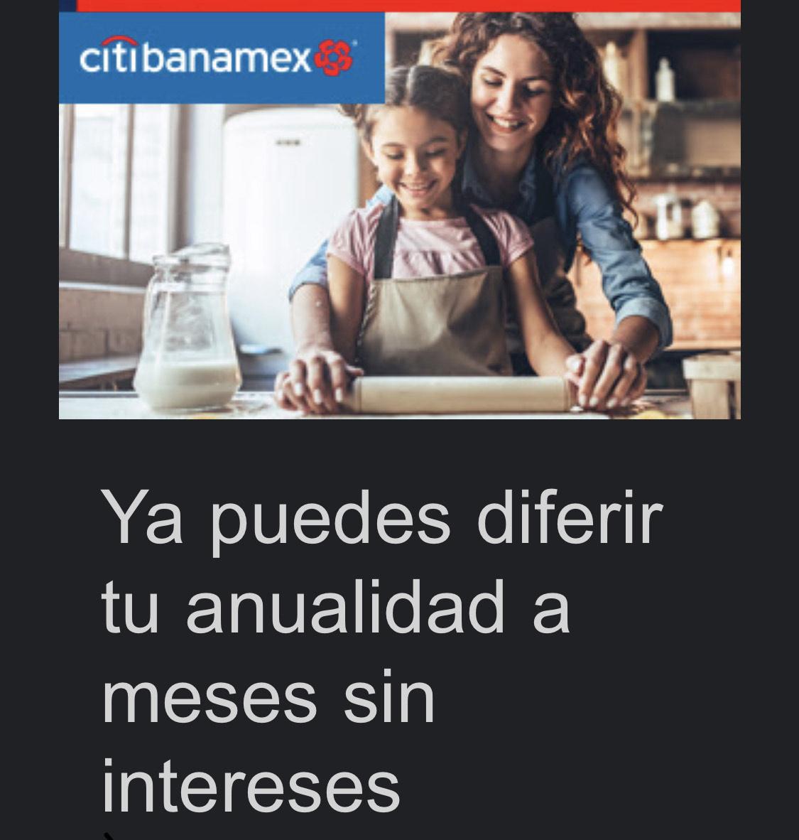 Citibanamex anualidad diferida