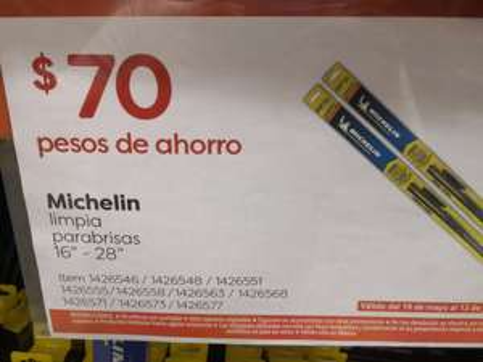 Costco: 70 pesos de descuento en Limpiaparabrisas