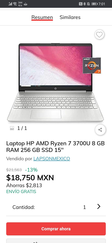 Claro Shop: LAPTOP HP RYZEN 7