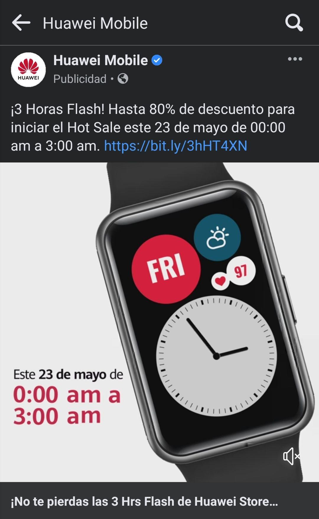 Huawei: Venta Flash 23 de mayo hasta 80%