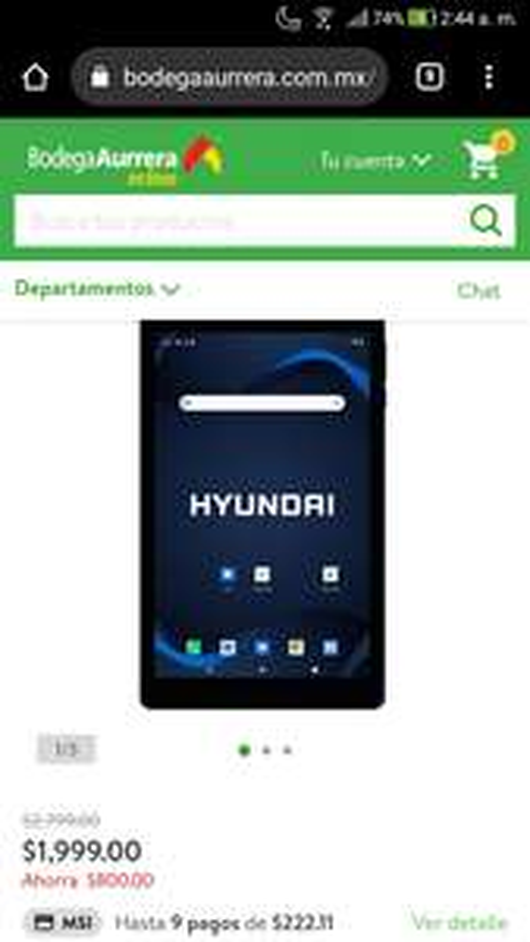 Bodega Aurrerá: Tablet Hyundai HyTab 32GB Plus 8LAB1 Negra
