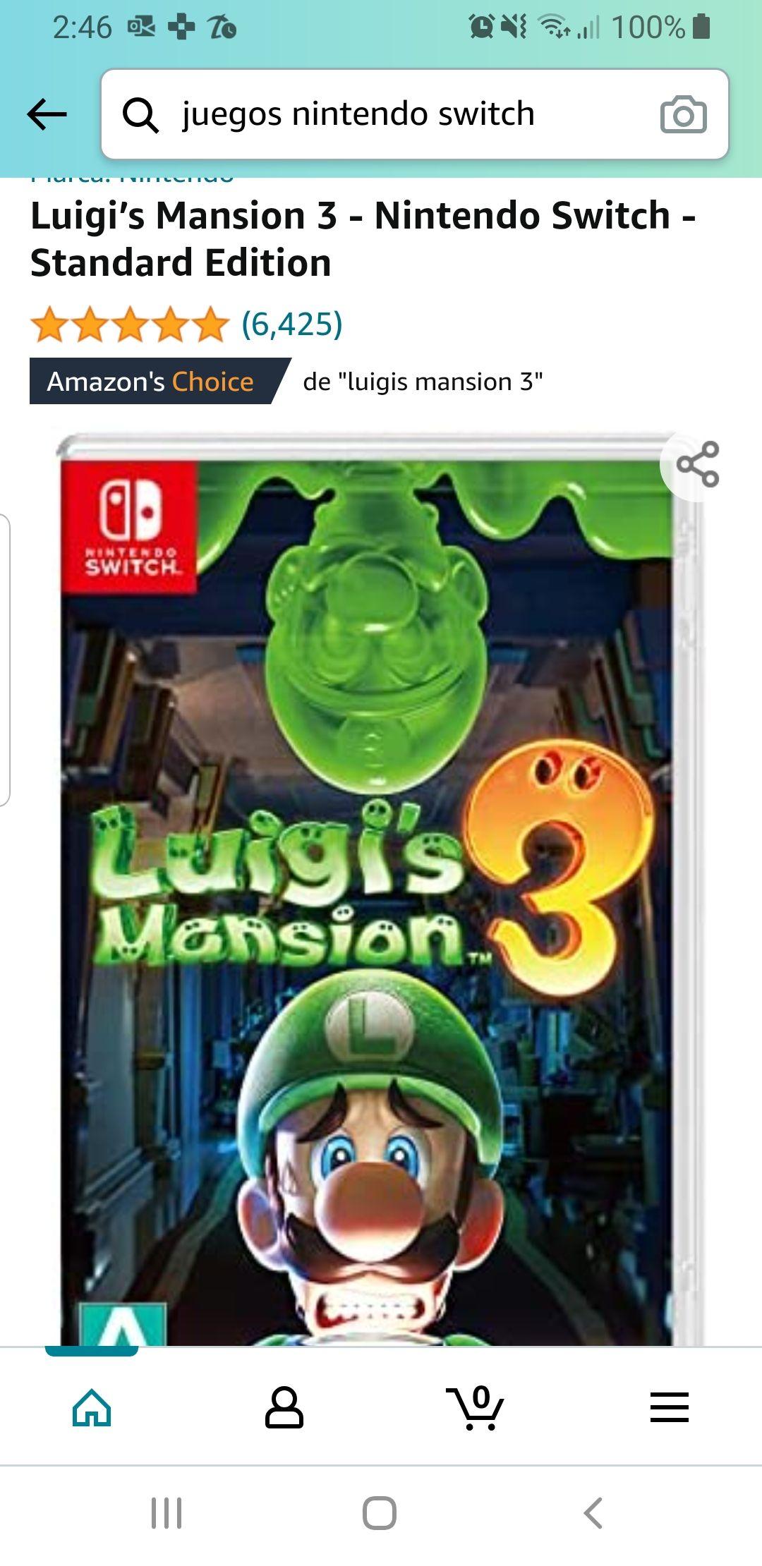 Amazon: Luigi's Mansion 3 - Nintendo Switch - Standard Edition