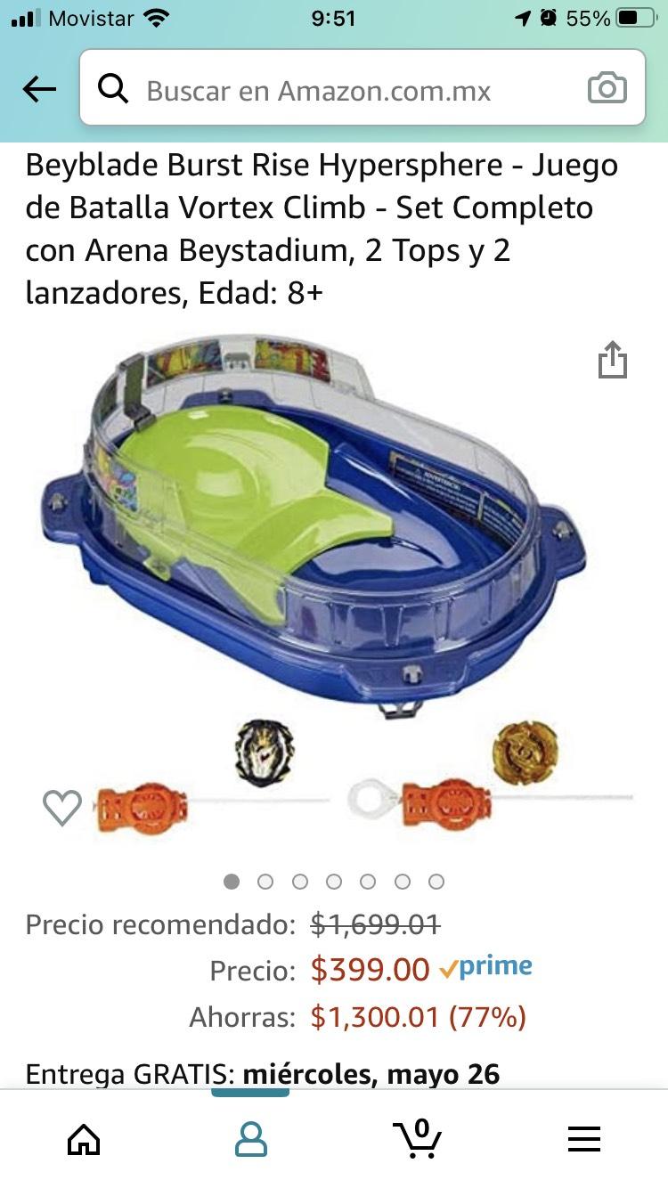 Amazon: Estadio para Beyblade con 2 blades.