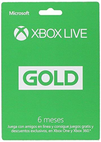 Amazon: XBox Live Gold Membresía 6 Meses - 6 meses Edition