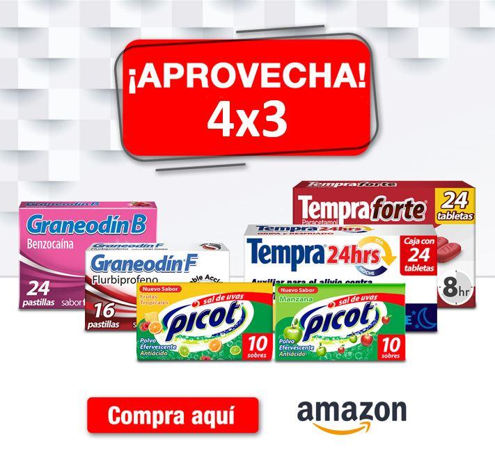 Amazon: 4x3 enTodos los Productos Tempra, Picot y Graneodin + 10% con Planea y Ahorra