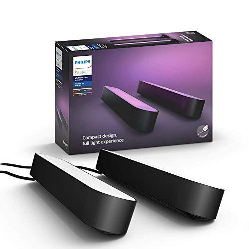 Amazon: Philips Hue Play White & Color Ambiance Paquete doble de barra de luz