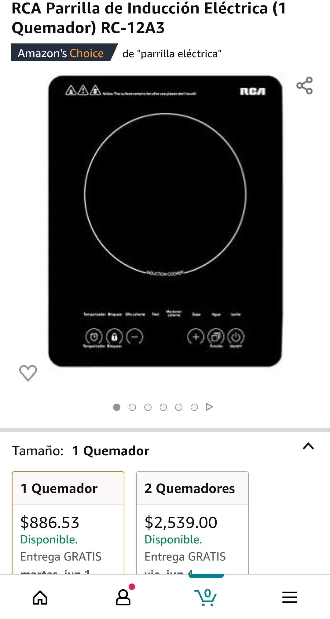 Amazon: estufa de induccion RCA