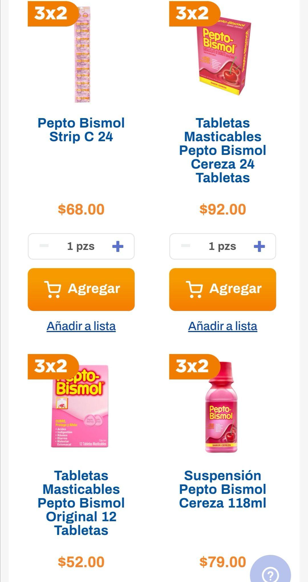 Chedraui: 3 x 2 en productos Pepto Bismol seleccionados