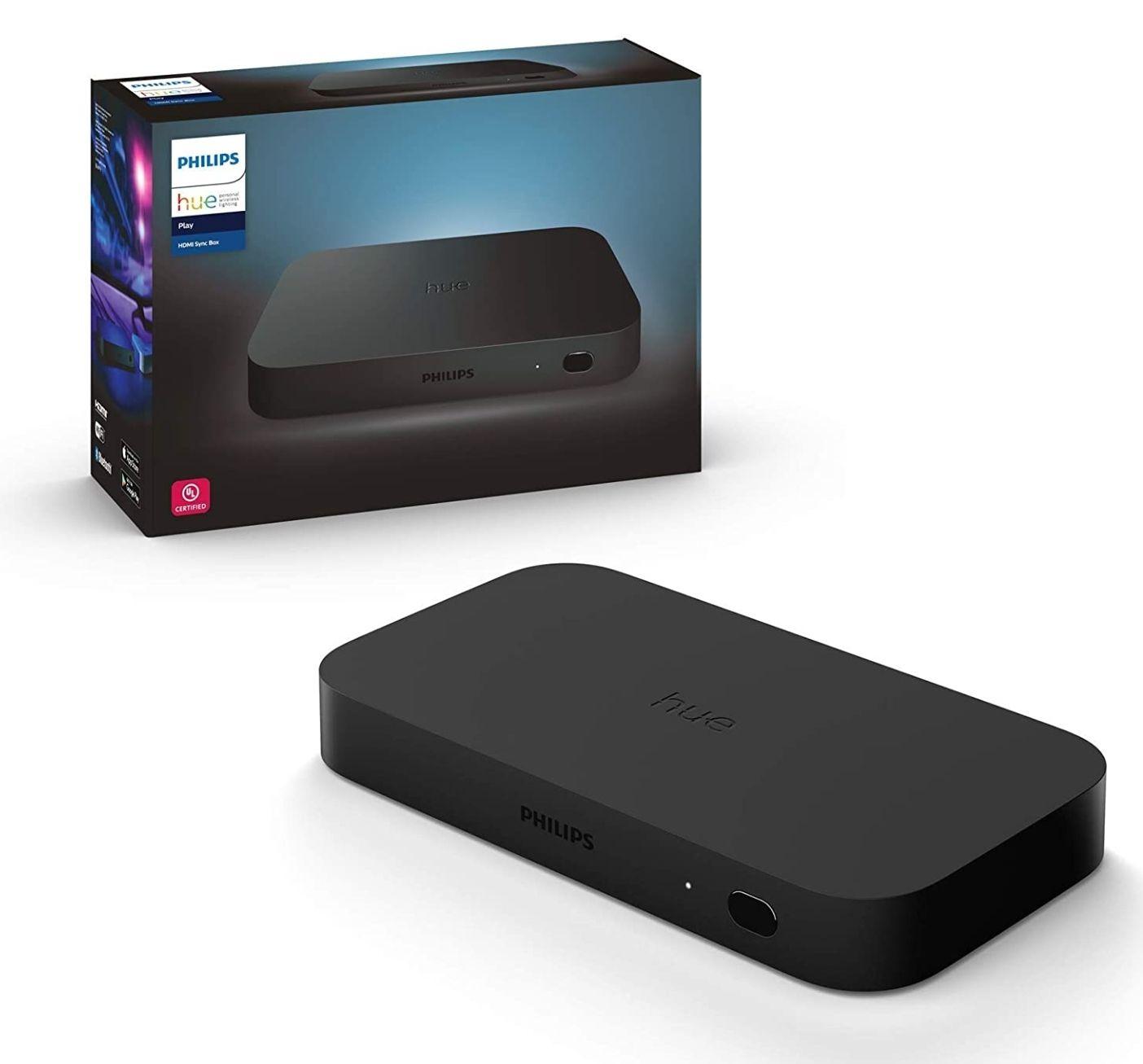 Amazon: PHILIPS Hue Sync Box - Sistema HDMI para sincronizar Entretenimiento con iluminación Hue