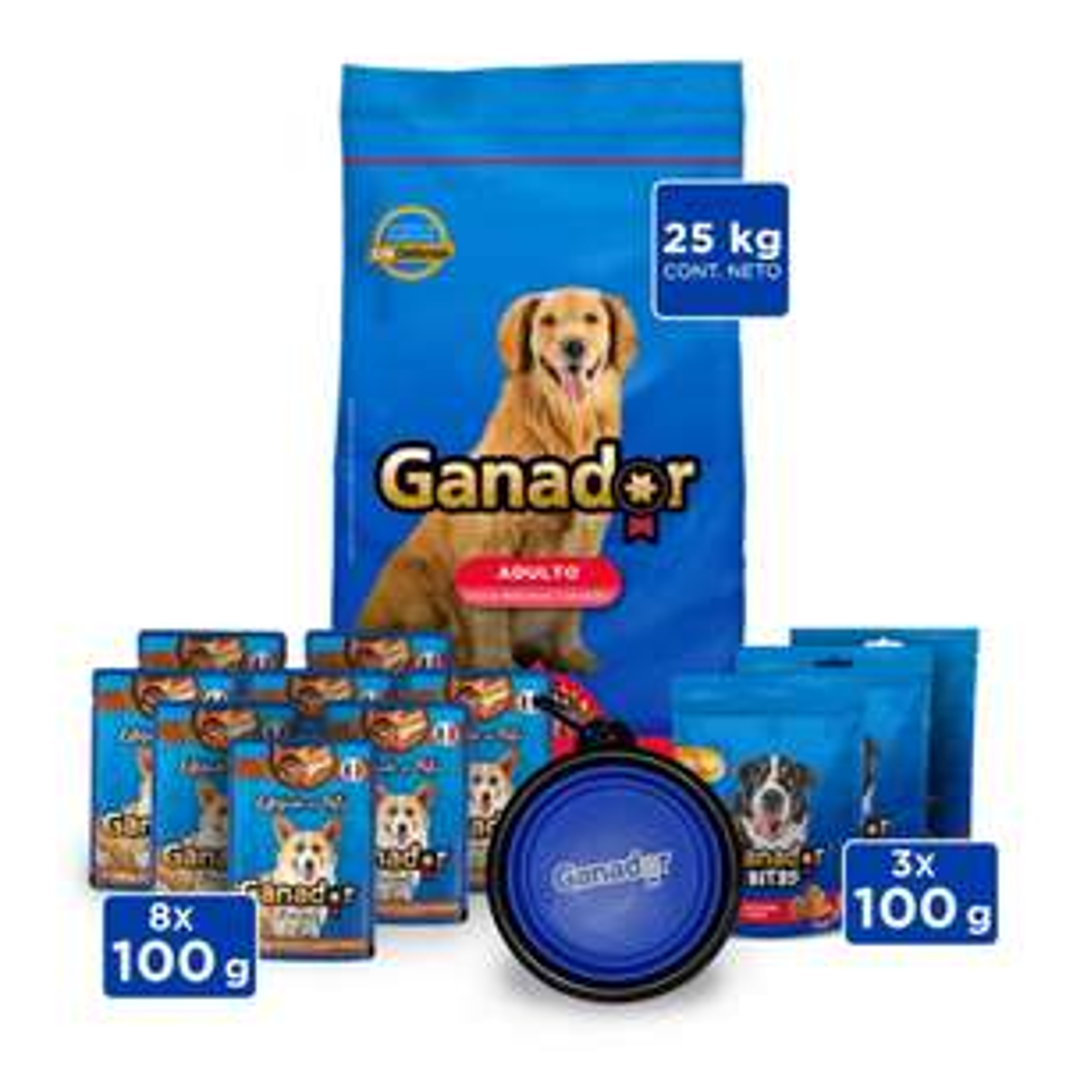Walmart: Alimento para Perro Ganador Original Adulto 25 Kg Bundle