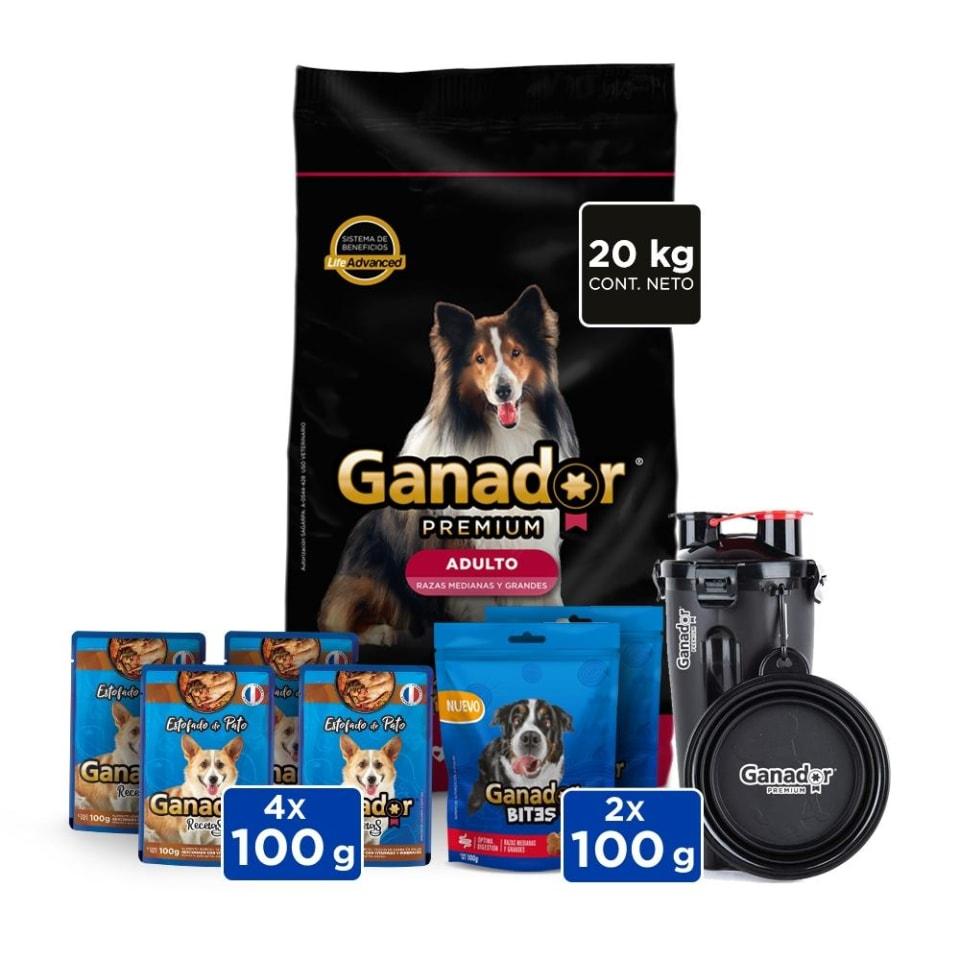 Walmart: Alimento para Perro Ganador Premium Adulto Razas Medianas y Grandes 20 K