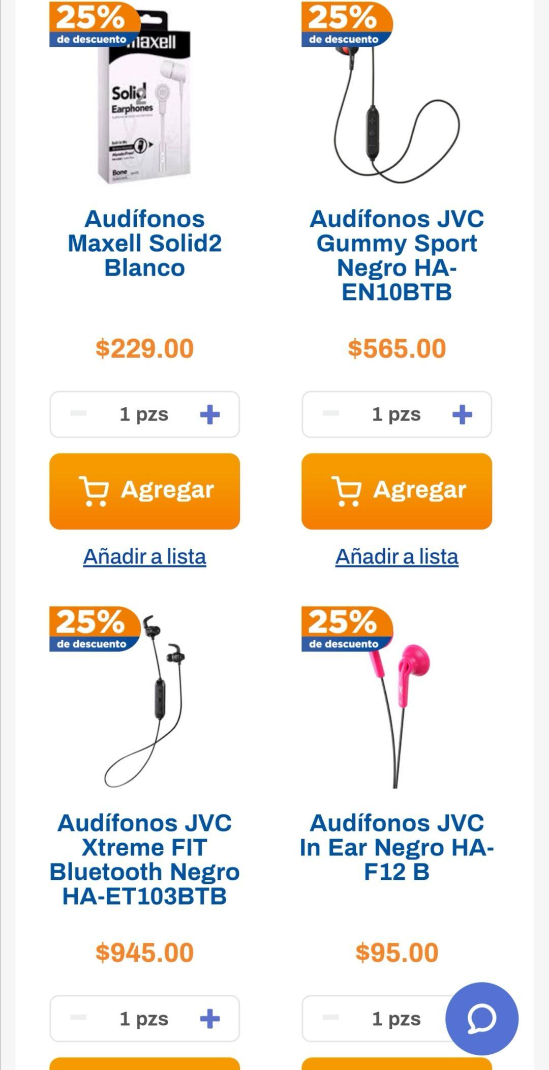 Chedraui: 25% de descuento en audífonos de las marcas Maxell, Philips y JVC