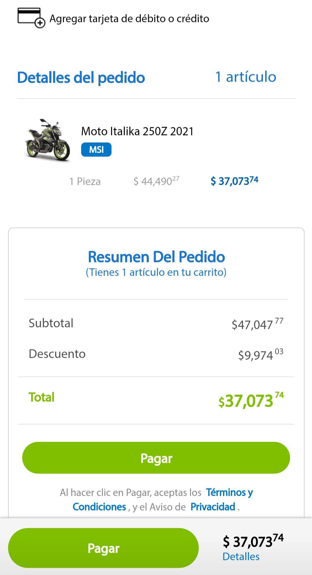 Sam's Club: Italika 250z 18 meses 3 mensualidades de ahorro hot days (Tarjetas participantes) 34573.74 con 15% de BBVA