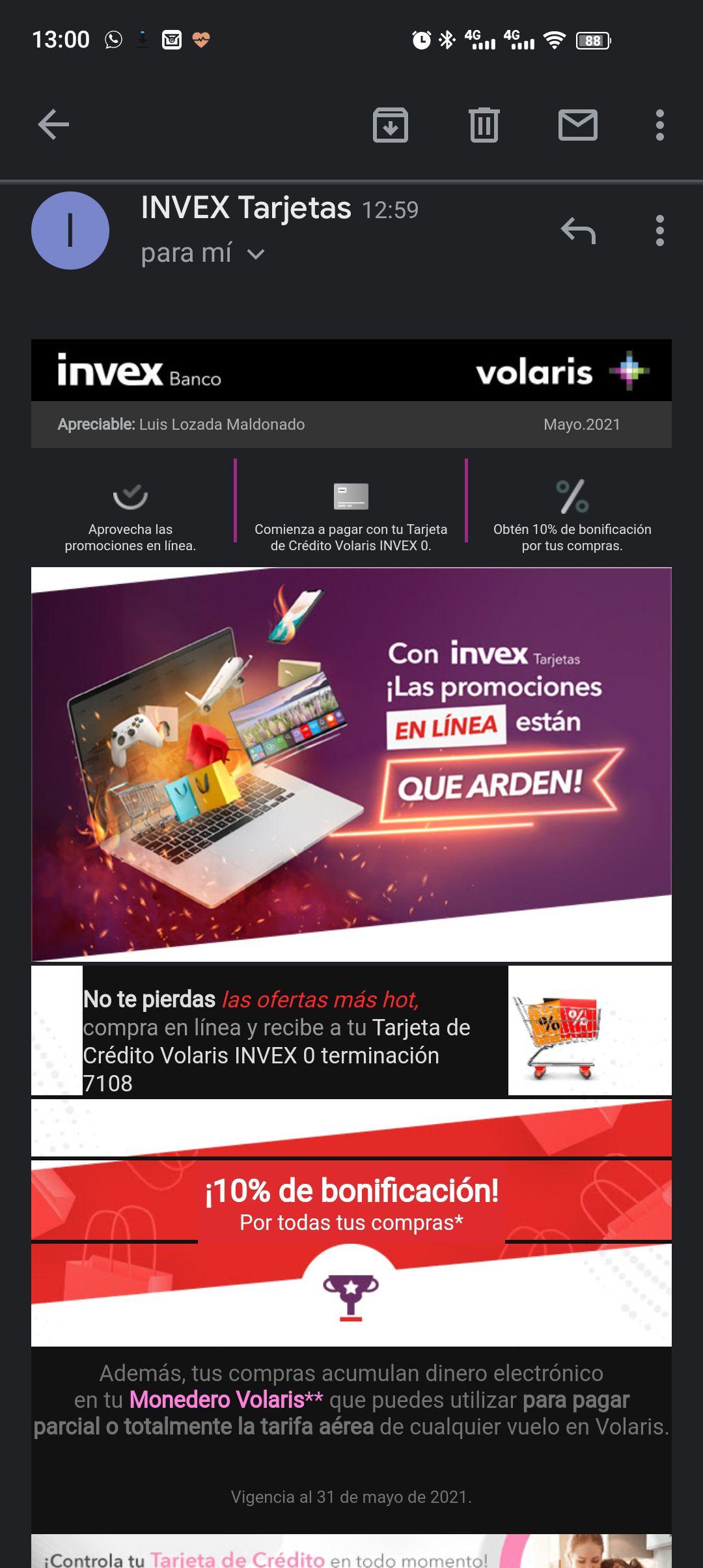 Promociones Hot Sale invex: 10% de bonificacion