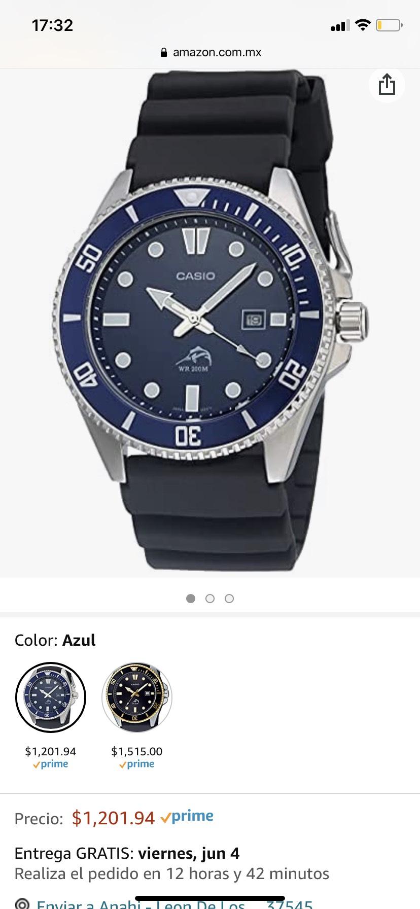 Amazon: Reloj Casio Marlin