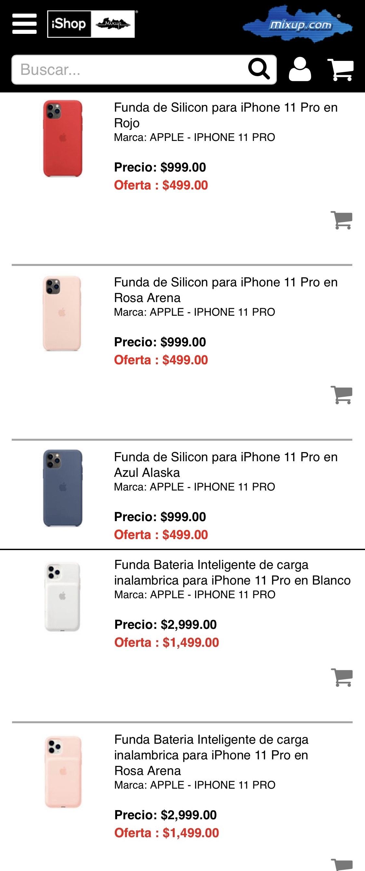 Fundas de piel, silicón y funda CON batería para iPhone 11 Pro marca Apple originales a mitad de precio.