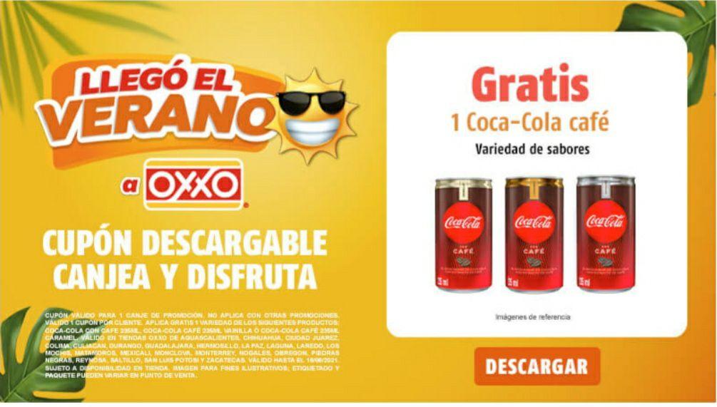 Oxxo Coca-Cola café gratis.