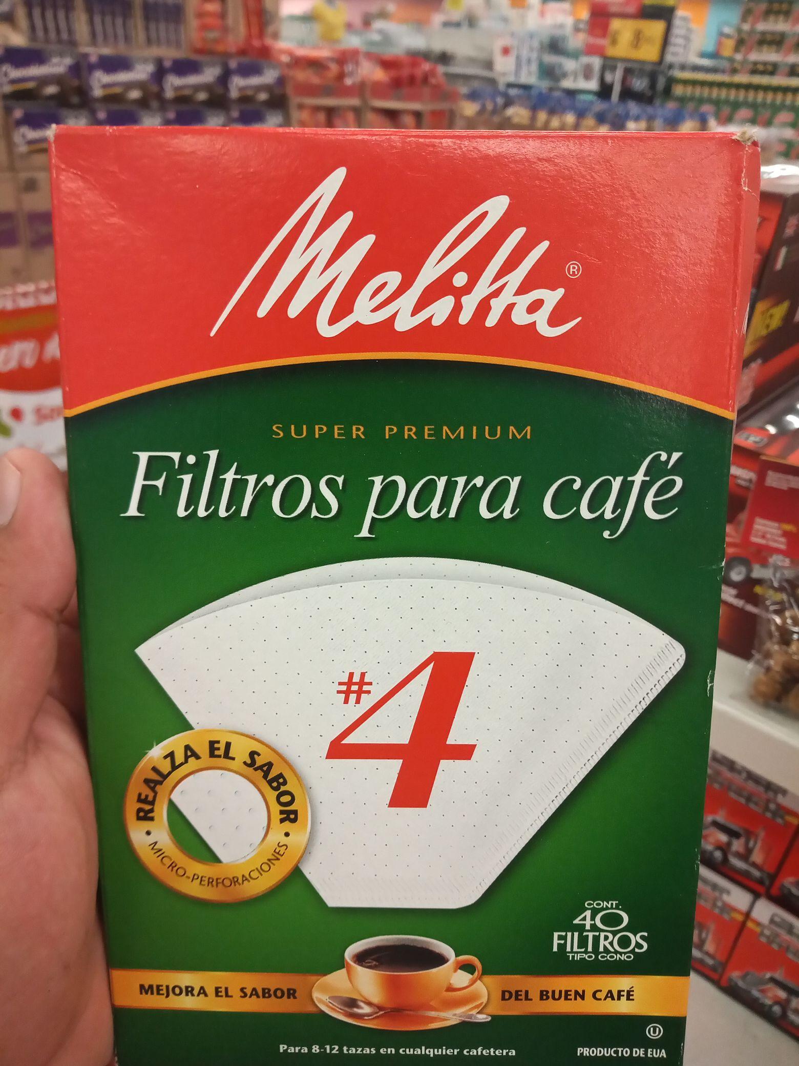 Soriana Hiper: Filtros para Café Melitta con 40 piezas