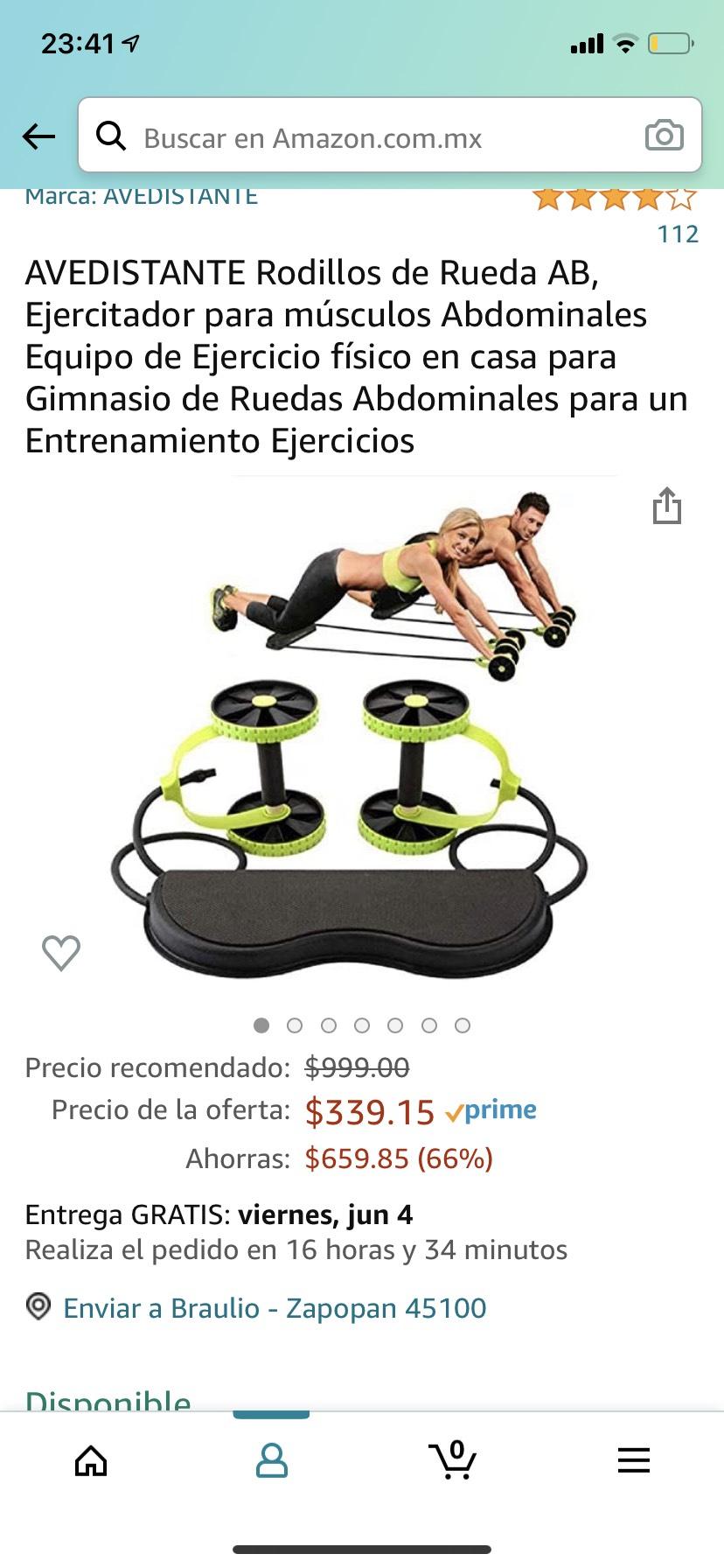 Amazon: Rodillos de Rueda AB, Ejercitador Gimnasio de Ruedas Abdominales para un Entrenamiento Ejercicios